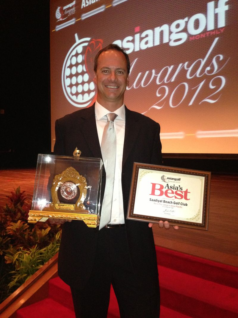 Chris Card with Asia Pacific Golf Summit awards